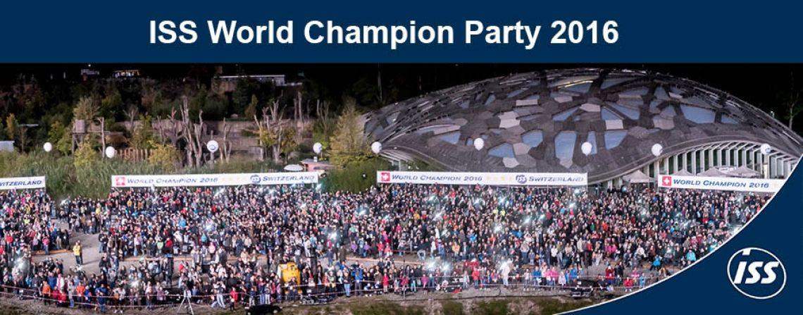 ISS Schweiz wird World Champion ISS Schweiz ist zum 4. Mal ISS World Champion! Rund 6000 Mitarbeitende und Ihre Familien feierten diesen Erfolg mit einer grossen Party im Zoo Zürich. Starlight - Artists & Entertainment durfte mit einem spektakulären Künstlerprogramm incl. Konzeption, Ausarbeitung und Durchführung dabei sein. Herzlichen Dank ISS Schweiz AG!