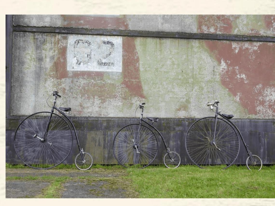 Wir haben die Hochräder - Sie bestimmen den Hintergrund