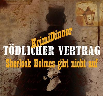 """Plakat KrimiDinner """"Sherlock Holmes"""""""