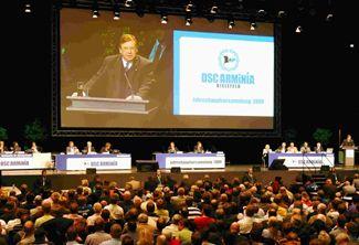 Jahreshauptversammlung Jahreshauptversammlung DSC Arminia Bielefeld  4-Kameraübertragung auf Großbild. Bereitstellung von Personal und gesamter Technik.