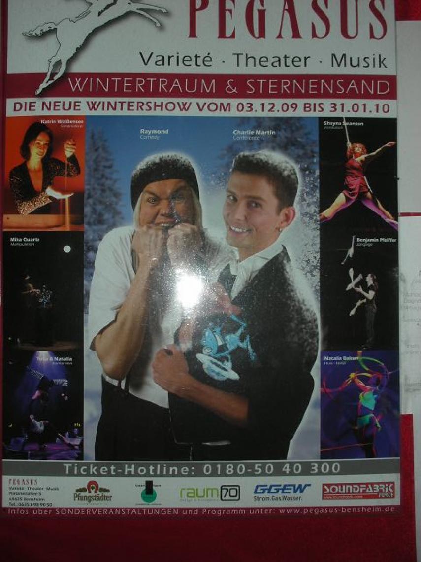 """Charlie Martin """"Zaubertainment"""" Plakat in Bensheim"""