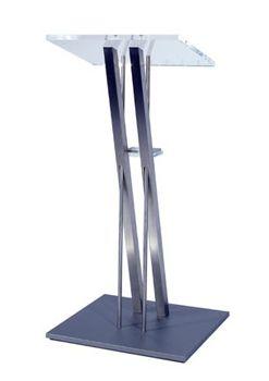 Rednerpult Rednerpult Edelstahl  Edelstahlgestell, Ablage aus Acrylglas, BHT 56/115/40cm