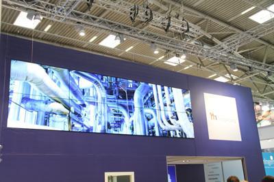 Messe Medientechnik Videowall 2x4 60 Zoll Videowall 2x4 60 Zoll