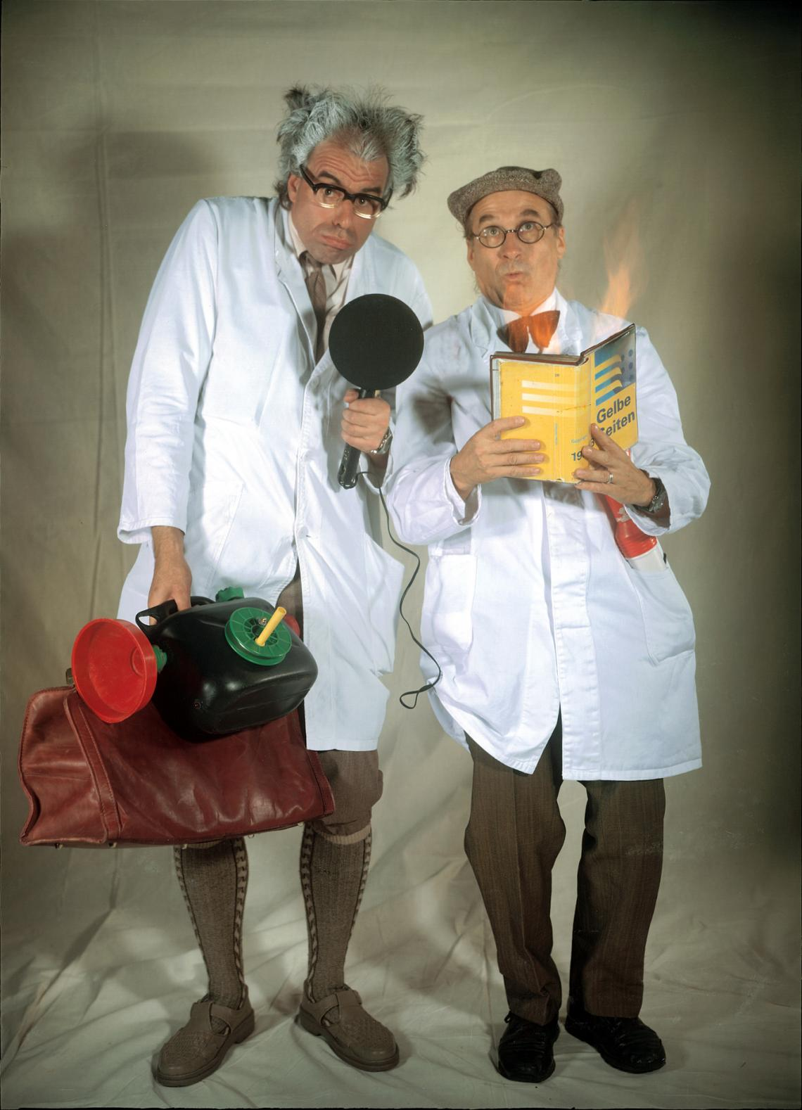 """PICO BELLO's """"Schräge Professoren""""  PICO BELLO's """"Schräge Professoren""""  - Die Kommunikationsexperten Prof.Dr.KNOW & Dr.HOW  präsentieren ihr unvergleichliches, kurzweiliges Infotainment und garantieren, dass auch Ihr Produkt/Thema zum Star und zum unvergessenen Ereignis wird."""