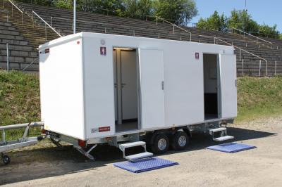 Mobile Sanitärsysteme Mobiltoiletten, WC Wagen, temporäre Duschen & Co. - SPLASH Sanitärsysteme speziell für Open-Air-Veranstaltungen und Events