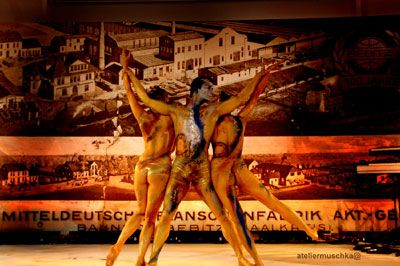 Bodypainting Performances sind für Matthias von Matuschka stille Walkacts