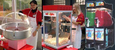 Fun Food (Zuckerwatte, Popcorn und Slush-Ice) Fun Food (Zuckerwatte, Popcorn und Slush-Ice)