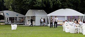 RÖDER - innovative Partyzelte RÖDER Partyzelt-Innovationen sorgten für ein frisches Ambiente zum Sommerfest des Bundespräsidenten im Schlosspark Bellevue, Berlin.