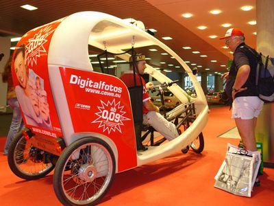 """Citycruiser Die Kabinen unseres Modells """"Citycruiser"""" überzeugen durch ihr organisches und innovatives Design: Sie bestehen aus 100% recycelbarem Material."""