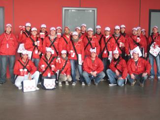 Promotionaktion im RheinEnergie Stadion