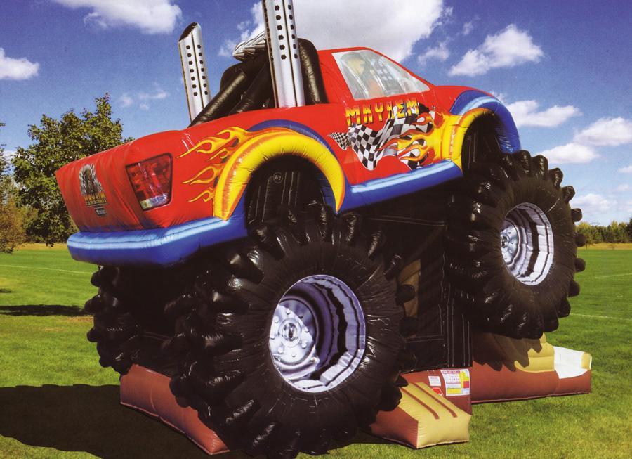 ERTL Karussell Land GmbH - Hüpfburg Monster Truck Hüpfen, klettern und rutschen auf einem Monstertruck? Mit dem neuen Hüpfspielplatz ist das möglich und verspricht einen riesen Spass.