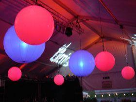 Chill-out-lights Unsere LED-Ballons und LED-Leuchtkugeln sind prädestiniert, um eine stimmungsvolle und auch geheimnissvolle Dekoration zu realisieren.