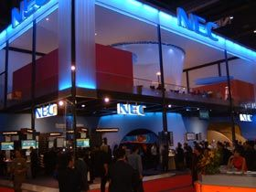 Messeauftritt NEC – Messeauftritt  Gestaltung und Durchführung von 16 Showacts pro Tag im doppelstöckigen Messestand von NEC auf der Messe ITM Telekom.