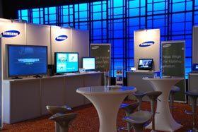 Roadshow Samsung – IT-Cluster Roadshow  Präsentation von Samsung Monitoren, Notebooks und Druckern in sechs deutschen Städten mit anschließendem Get Together .