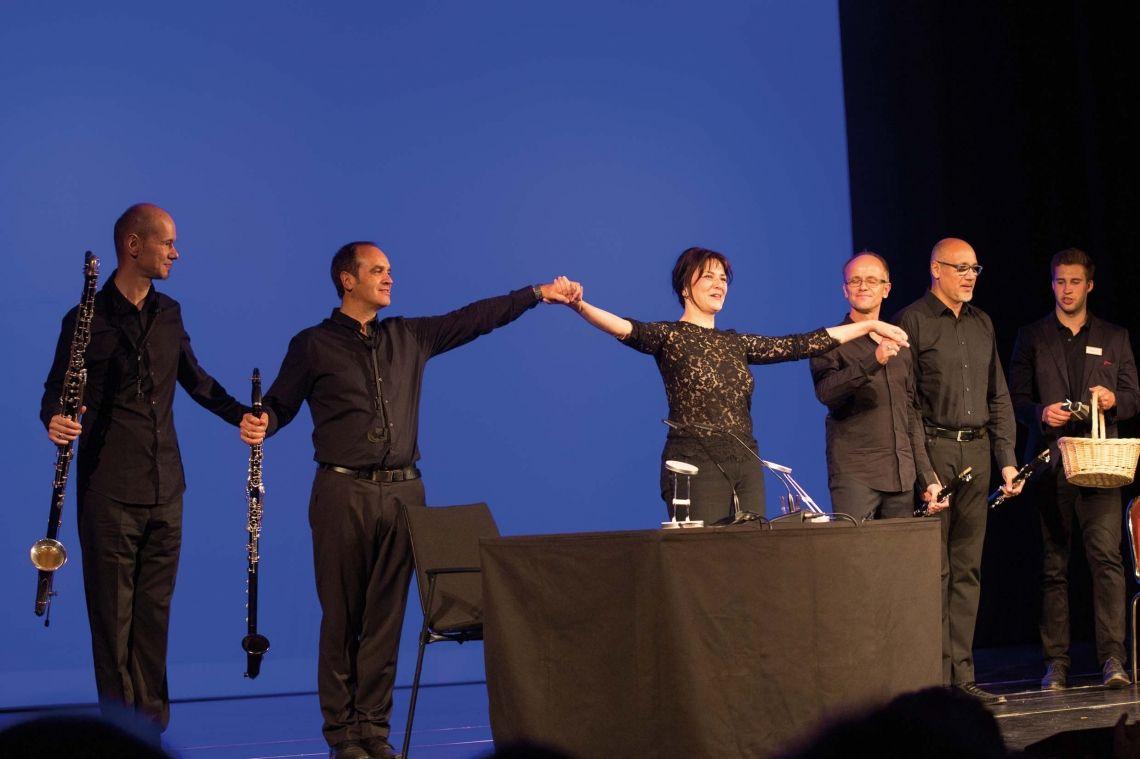 Martina Gedeck und Vienna Clarinet Connection Auftritt beim Bad Homburger Poesie&LiteraturFestival Stefan Zweig - Brief einer Unbekannten