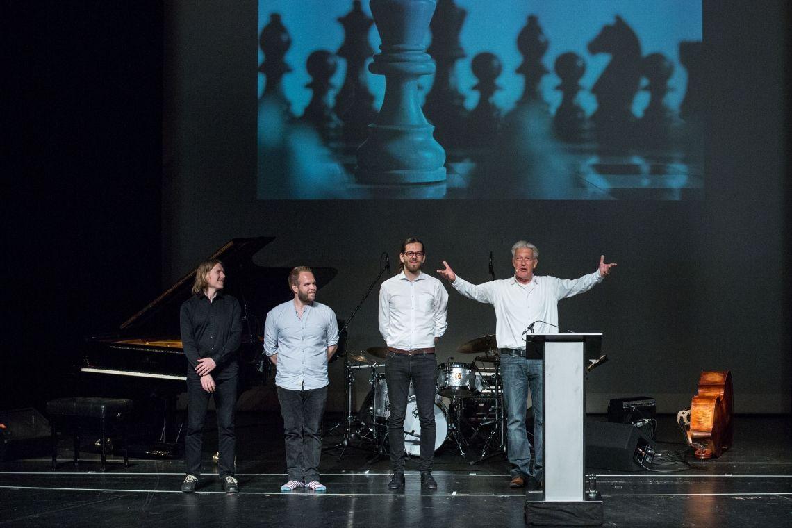 Max Moor und Emil Brandquist Trio Auftritt beim Bad Homburger Poesie&LiteraturFestival Stefan Zweig - Die Schachnovelle