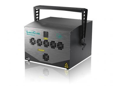 LightCube Professional 863 Professional Lasersystem bis 30W RGB Pure Diode mit Schock absorbing Technology für den rauen Eventeinsatz.