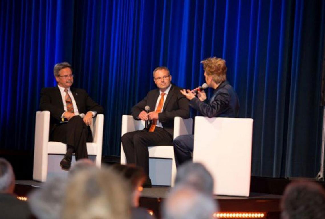 Talkrunde bei Volksbank Event mit Axel S.