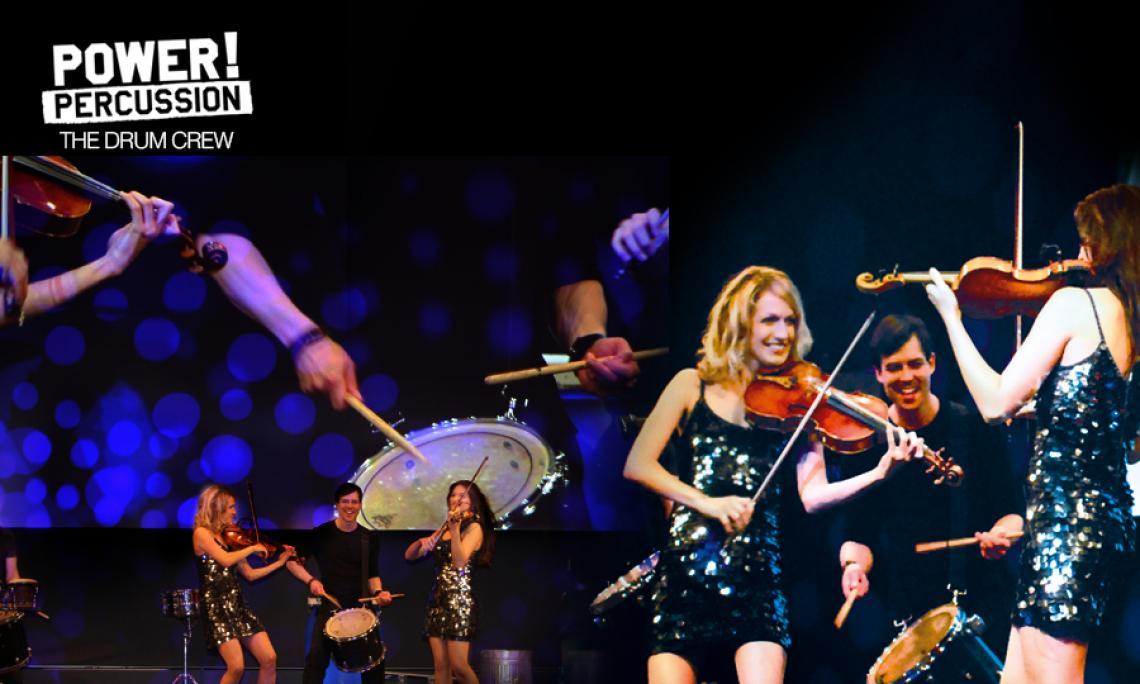 DRUMS & VIOLINS KLASSIK TRIFFT AUF MODERNE BEATS  Mit POWER! TOCCATA schaffen die Musiker ein aufregendes Spannungsfeld: Als reizvoller Kontrast zu den Schlagzeugern begeistern die Violinistinnen das Publikum mit Temperament und Eleganz. Klassische Musik wird von POWER! TOCCATA mitreißend neu interpretiert.