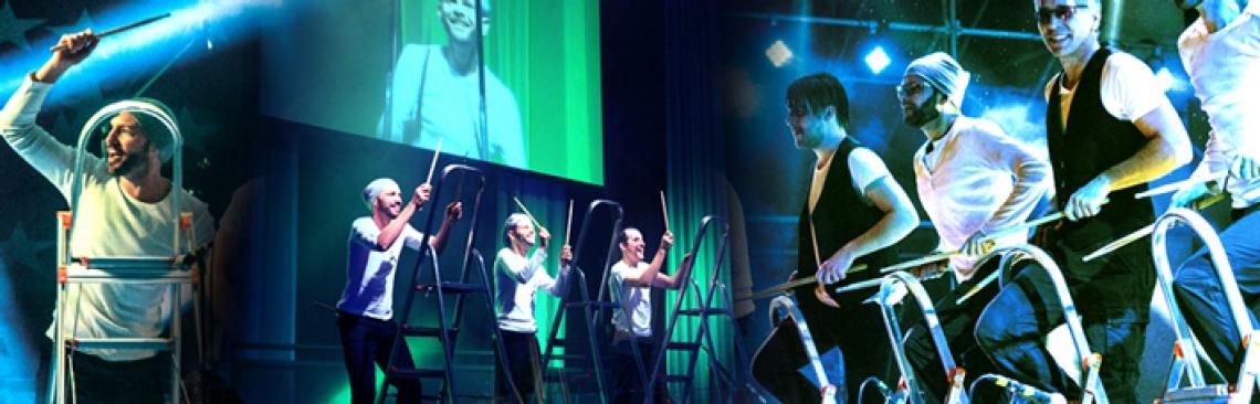 STEPS ENTERTAINMENT PUR. Das Publikum tobt bei dieser launigen Show mit Aluleitern