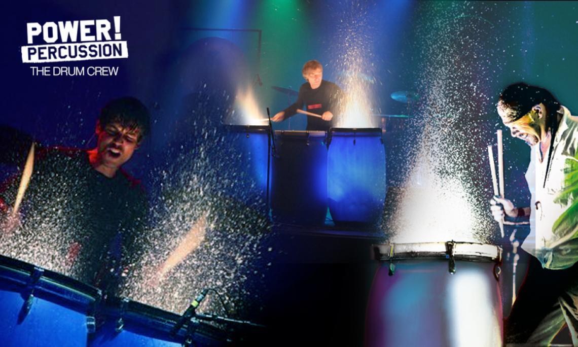 WATERDRUMMIN` Effekte wie LED-, UV- oder Waterdrummin´ begeistern das Publikum.
