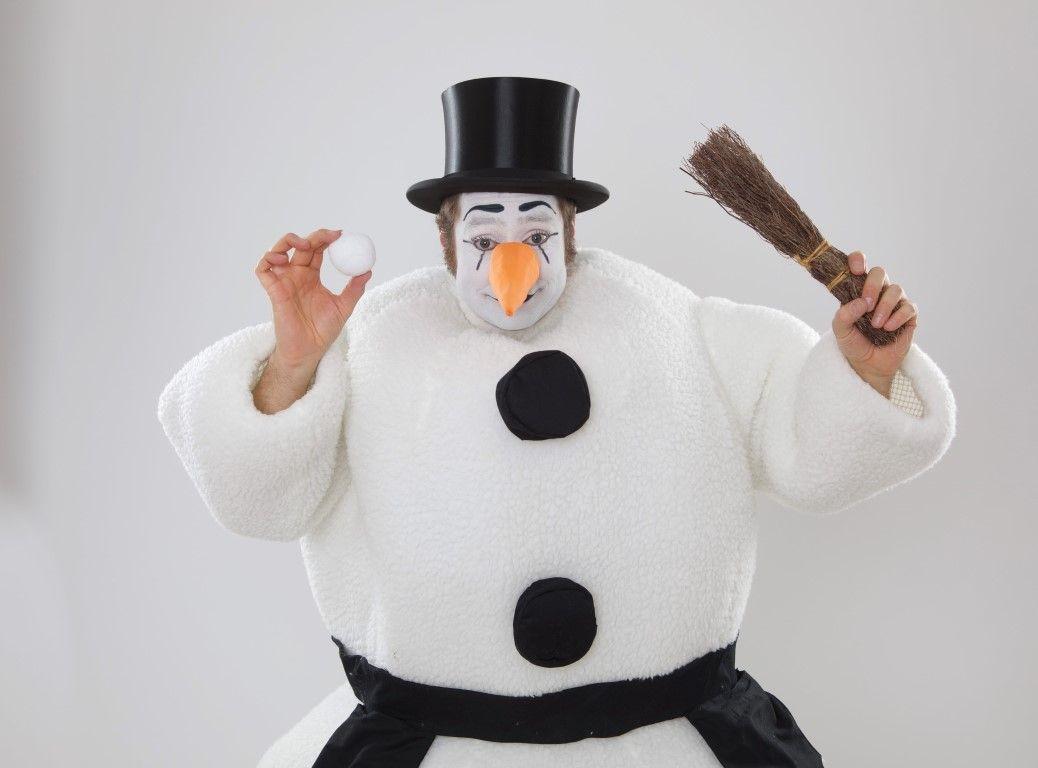Bastian als Schneemann