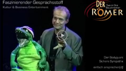 Video: Bauchredner trifft Bodyguard