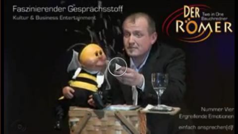 Video: Bauchredner trifft Biene