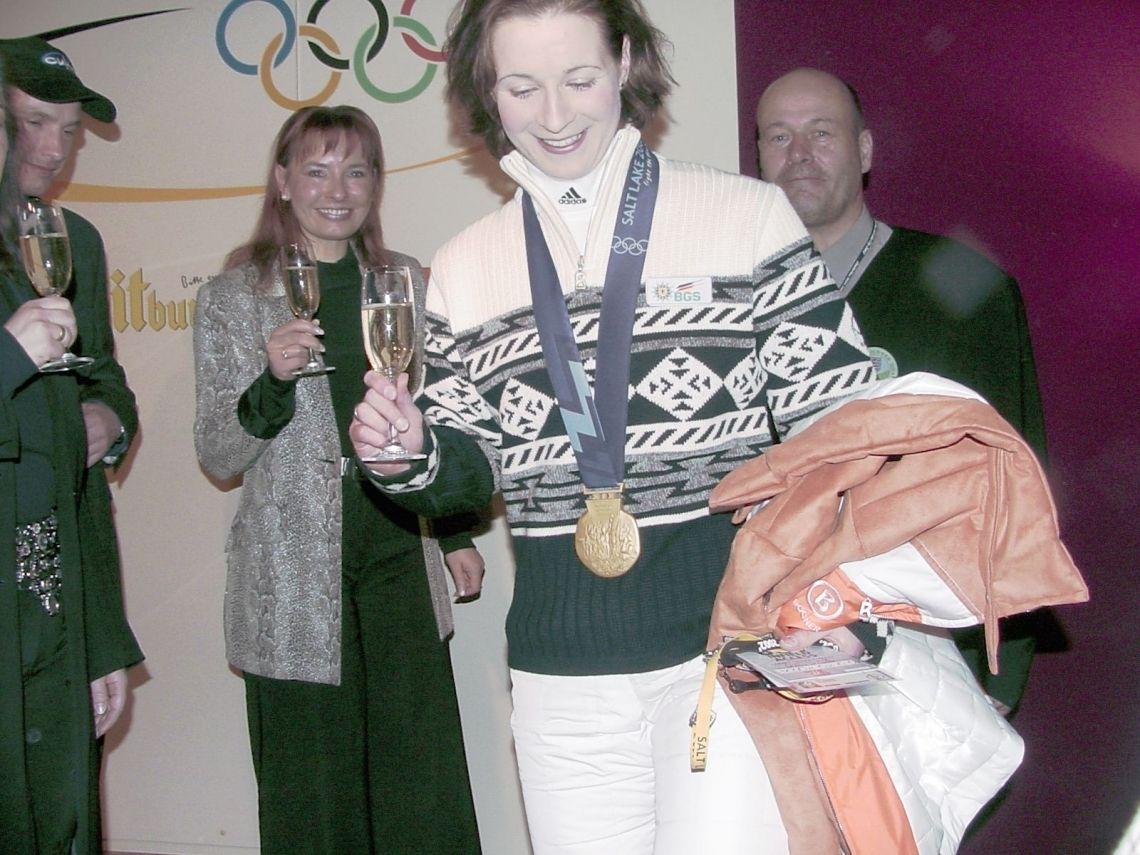 Medaillenständchen Claudia Pechstein
