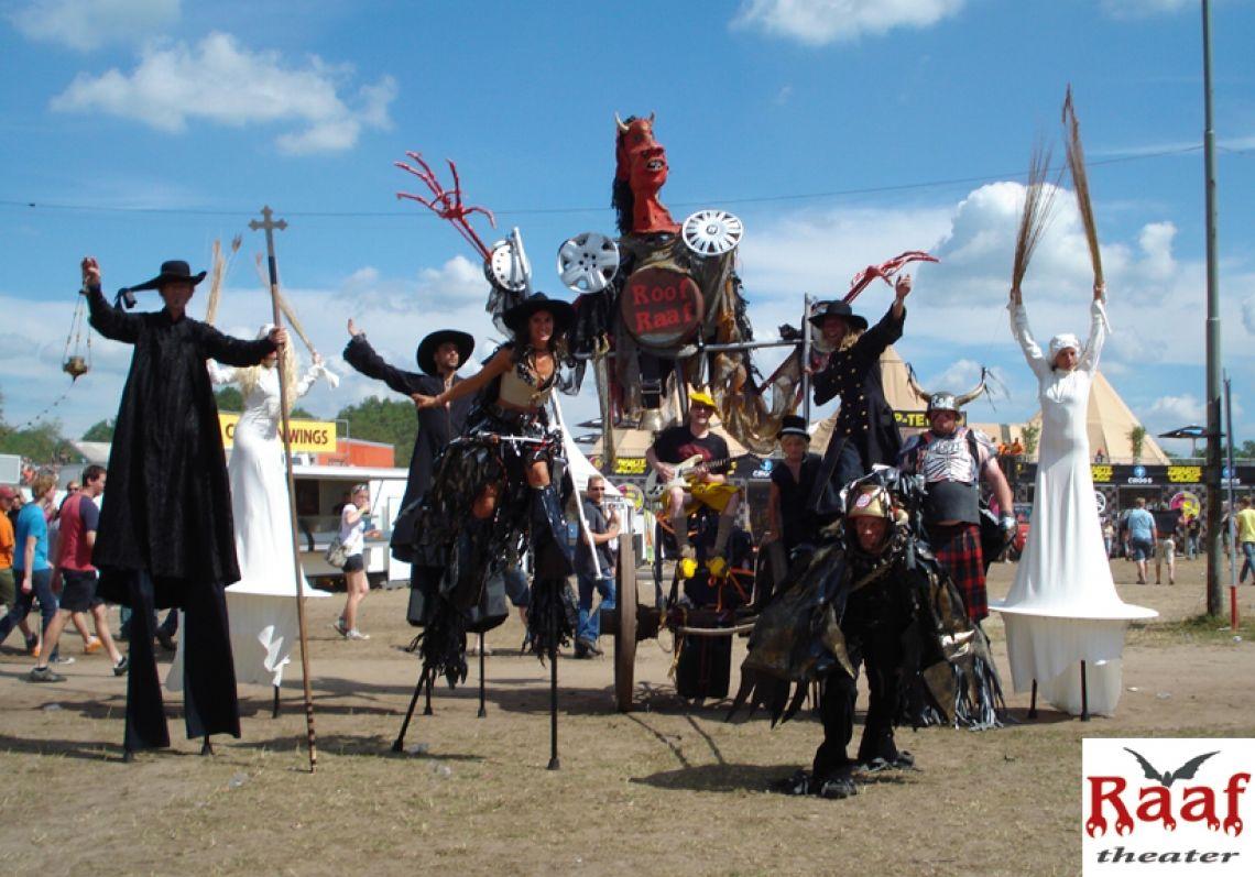 Mittelalterliche Parade mit viel Leidenschaft und Sehnsucht.