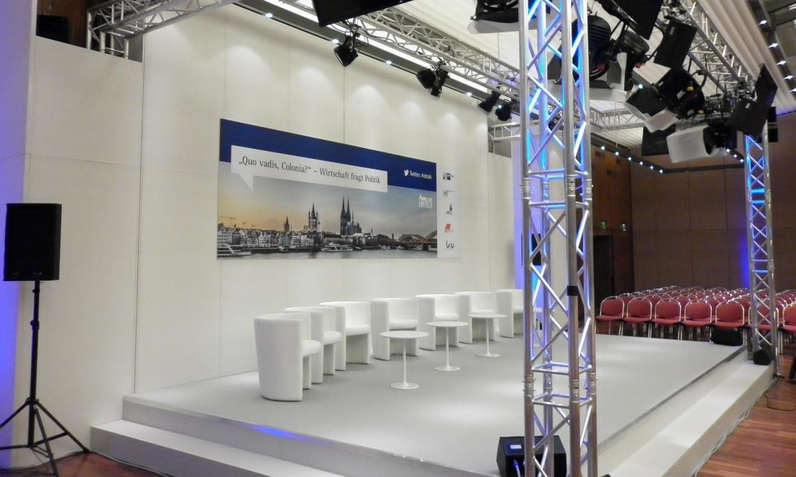 Veranstaltungsbau  Bühnenrückwand