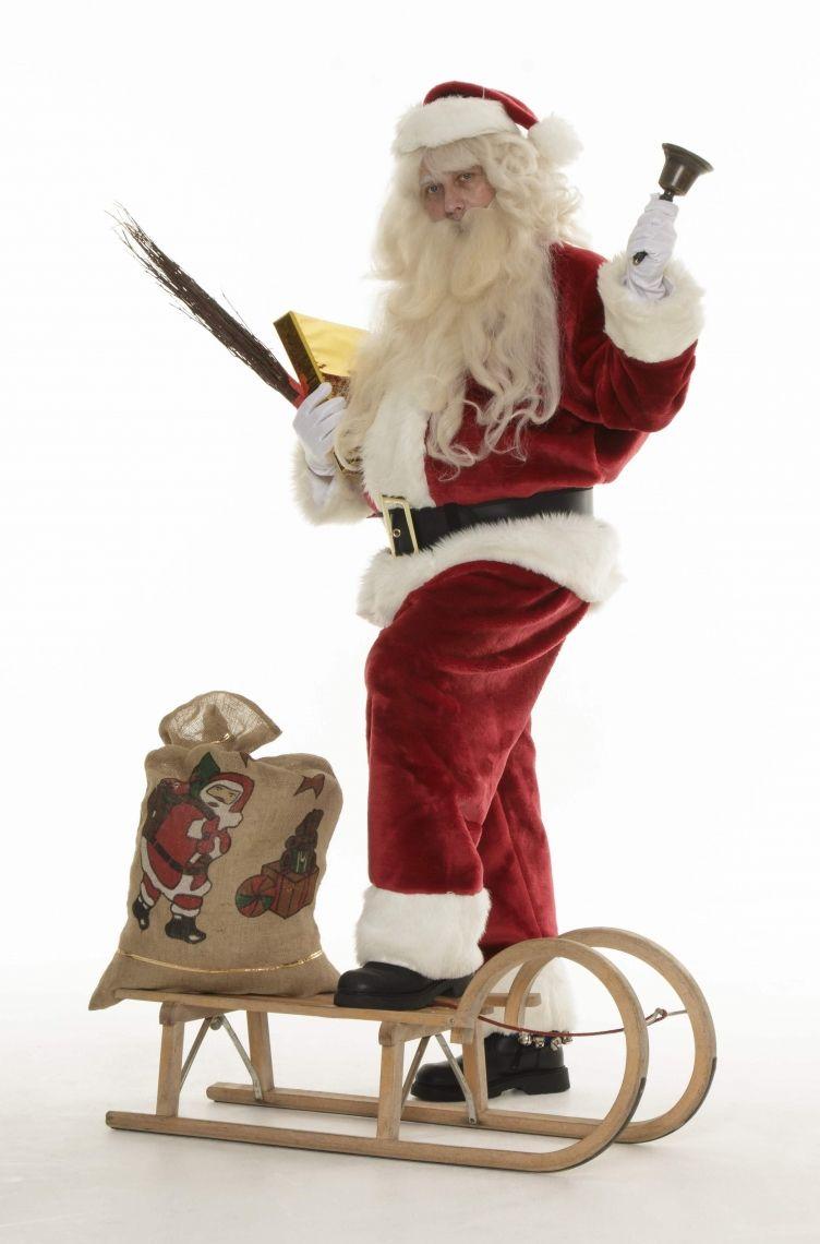 Der Weihnachtsmann mit Schlitten - STAGE-ACT Wie aus bekannten, amerikanischen Weihnachtsfilmen entsprungen: Ein dicker, bärtiger Weihnachtsmann bringt auf seinem Schlitten die Geschenke und Kinderaugen zum Leuchten!