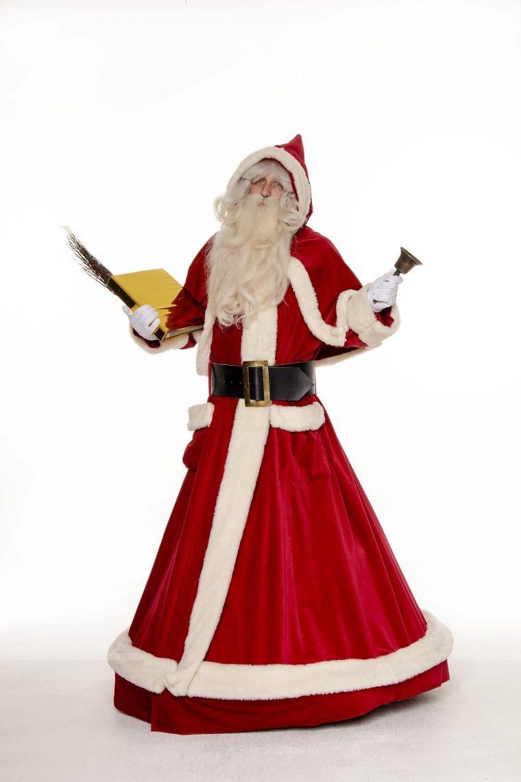 Der schwebende Weihnachtsmann - ROLL-ACT Sanft gleitet er dahin und unterhält die Gäste mit Gedichten und Liedern.