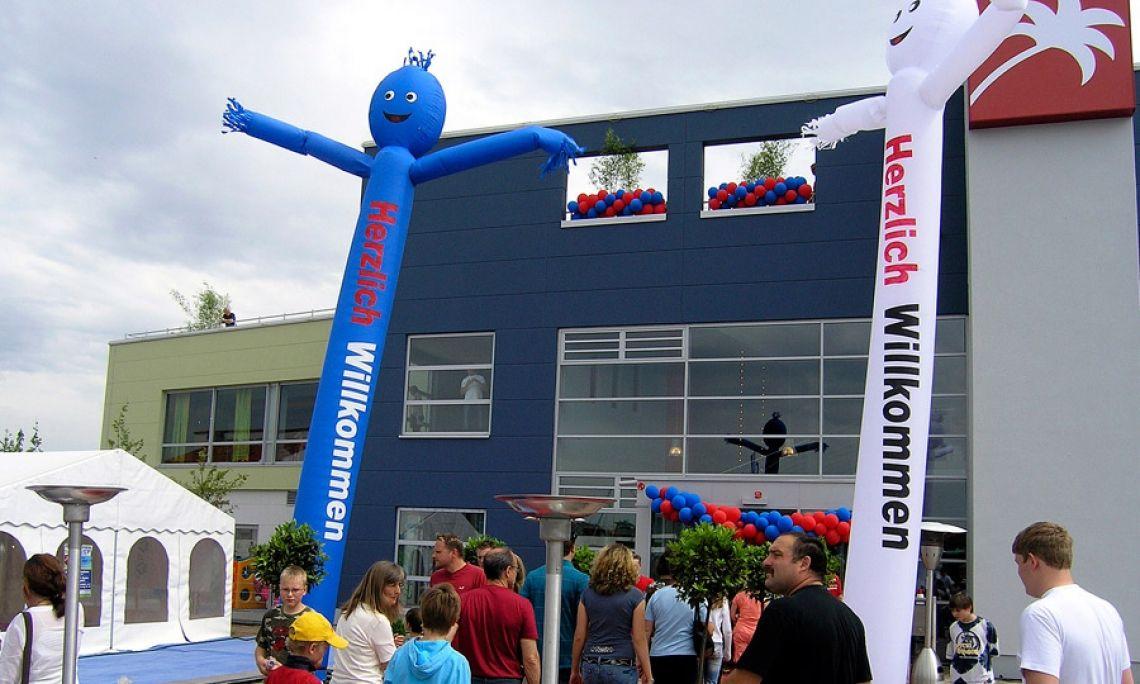 Skydancer - Airdancer - Windyman mieten Weithin sichtbarer Werbeträger für Ihre Veranstaltungen, Incl. Gebläse.