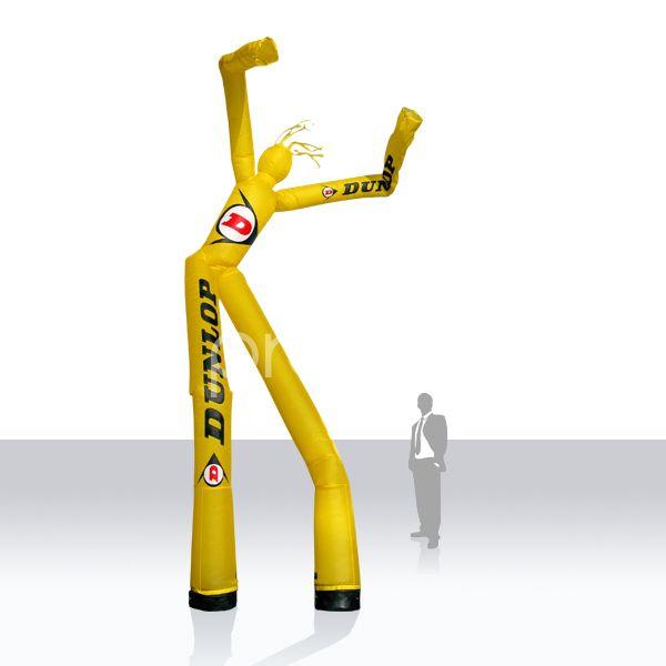 2beiniger SkyDancer Dunlop - Die Sky Dancer sind bei no problaim 1beinig und 2beinig erhältlich - Druck nach Kundenwunsch Die hübschen und auffälligen SkyDancer / AirDancer wirken durch Größe und Sympathy. Sie bleiben bei jedermann positiv in Erinnerung und werben so gekonnt für die Marke oder Firma. Diese Werberiesen sind 1- und 2beinig bei no problaim erhältlich - der Druck erfolgt nach Kundenwunsch.
