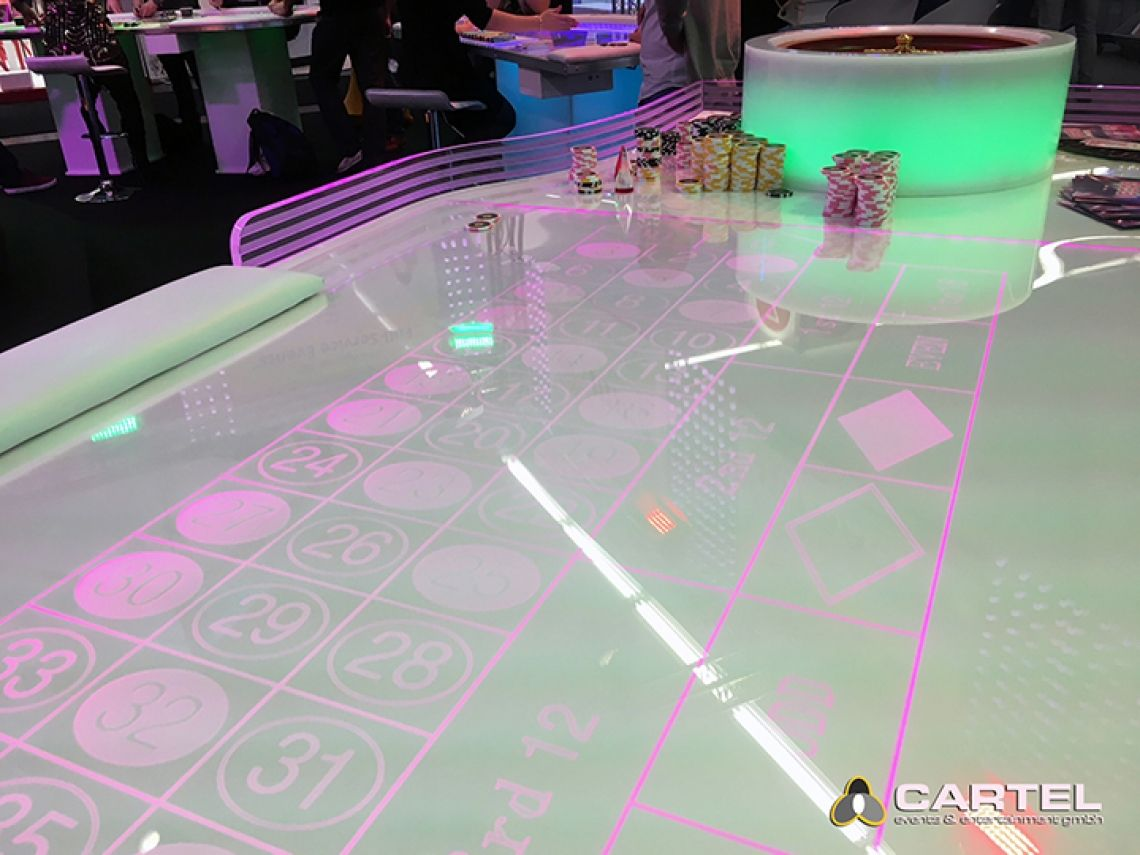 LED Casino / VEGAS EVENTS Unser LED-Roulette-Tisch auf der Best of Events 2018