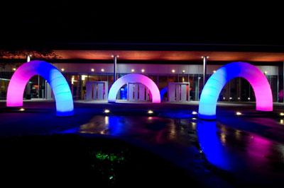 Eingangssituation mit Leuchtelement GATE Eingangssituation mit Leuchtelement GATE
