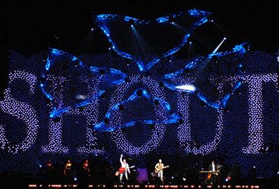 LED Effektvorhang ANIMATION als Bühnenhintergrund LED Effektvorhang ANIMATION als Bühnenhintergrund