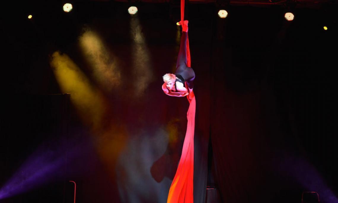 Andrea Engler | Vertikaltuch Show bei Firmenevent