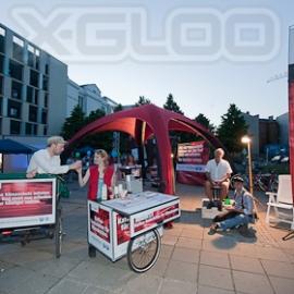 X-GLOO Eventzelt - Live