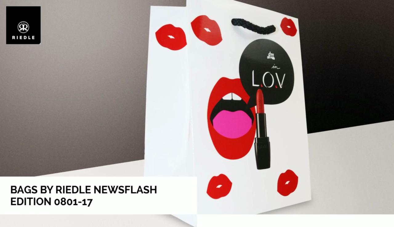BAGS BY RIEDLE Newsflash Edition 0801-2017 - Papiertragetaschen, Papiertaschen, Papiertüten