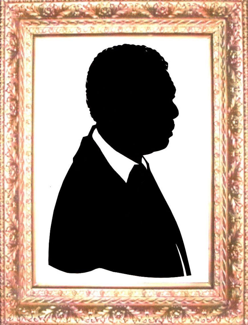 Porträtscherenschnitt eine Person