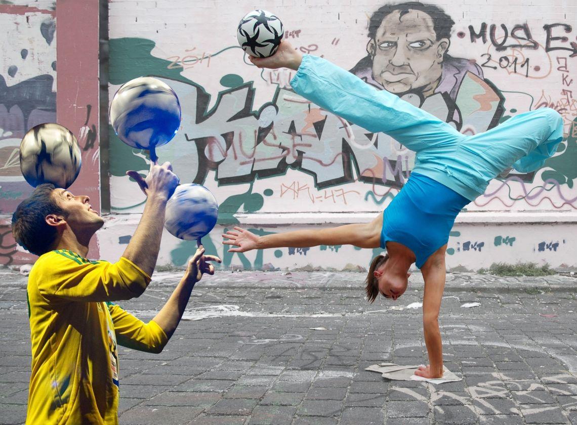 Die Fußballartisten - Fußball Jongleur & Fußball Artistin