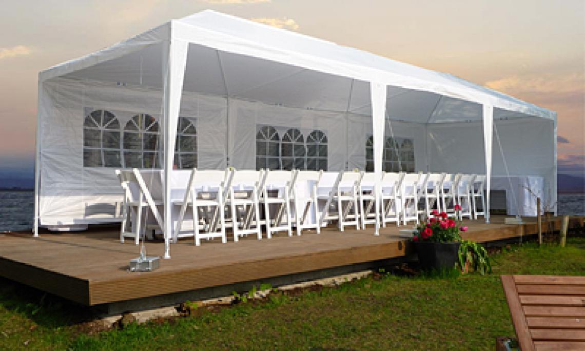 Zelte und Pavillons mieten - Sommerfest & Hochzeiten