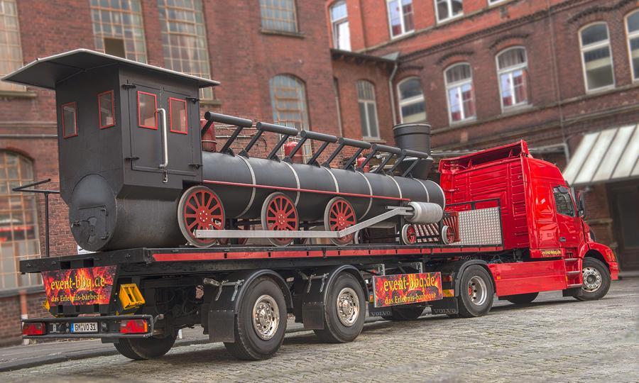 Die BBQ-Lokomotive! Der Hingucker für Ihr Event