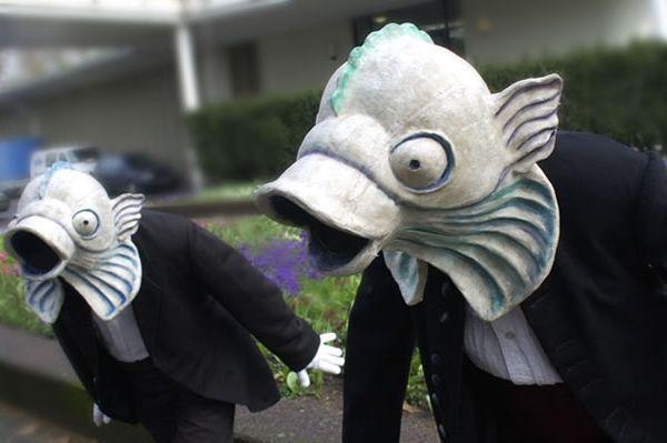 Fische im Frack