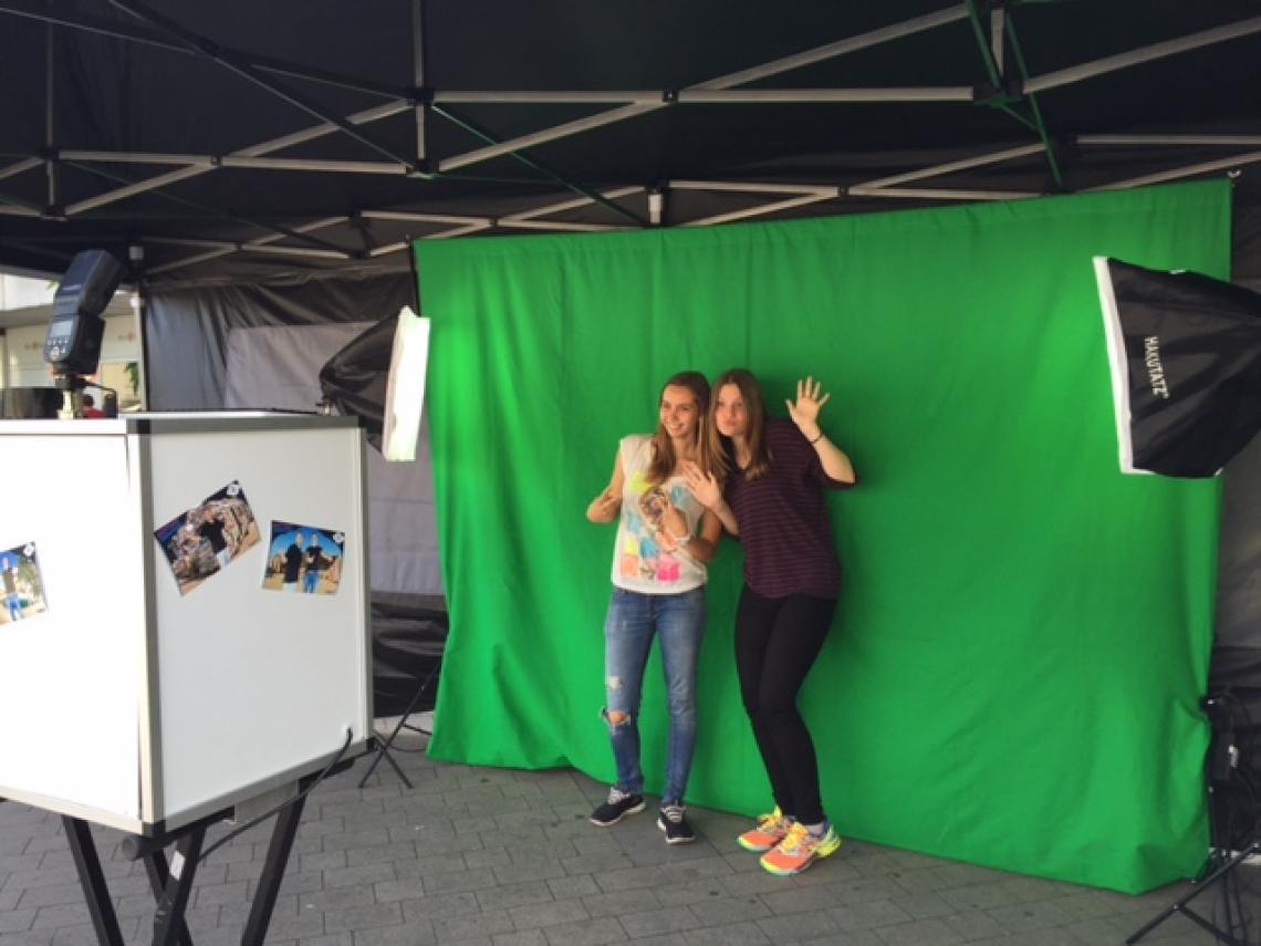 GreenScreen Foto-Fun Aktion Tolle GreenScreen Foto Aktion mit individuellen Hintergründen