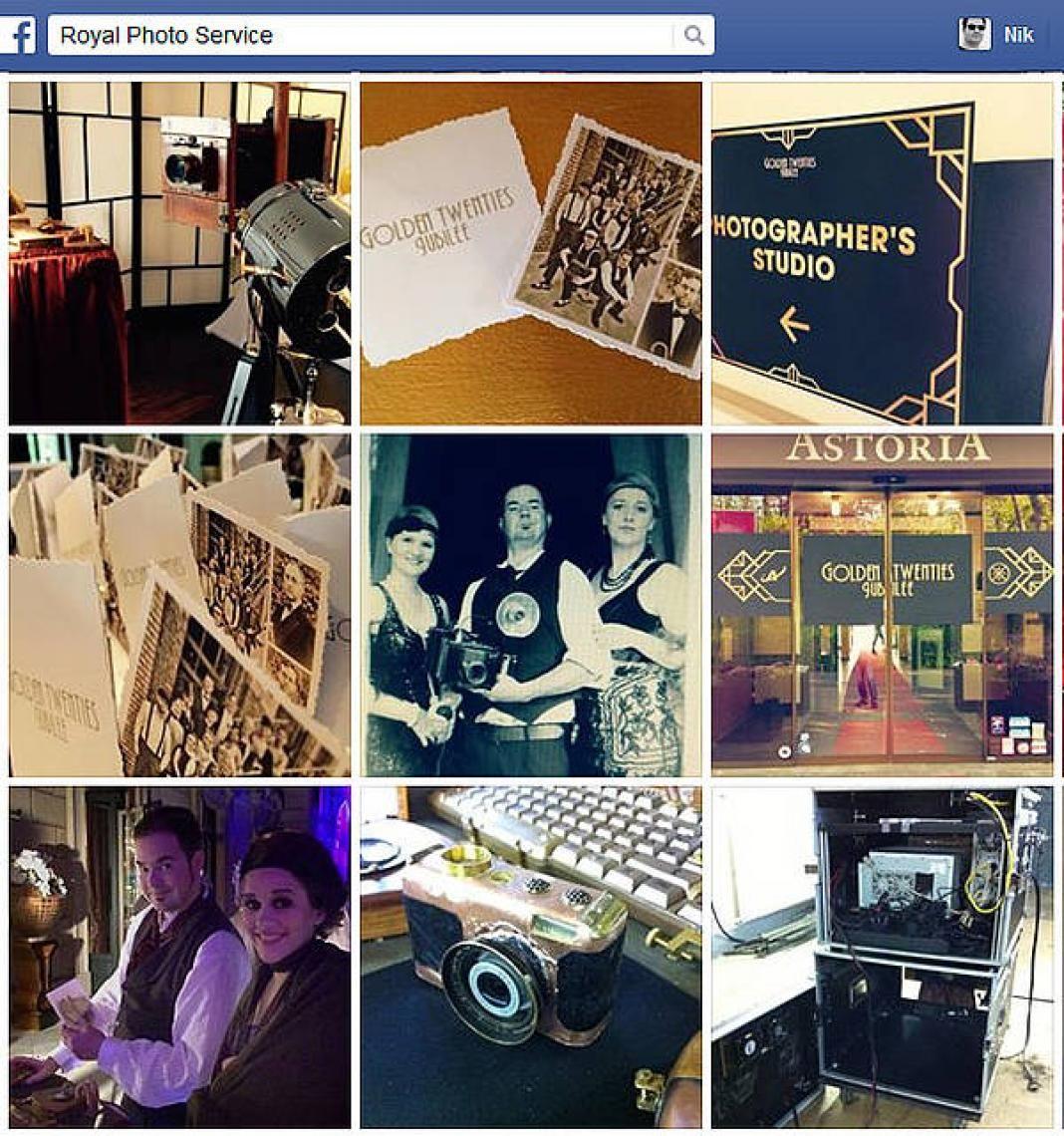 News auf Facebook Alle unsere Infos zu unseren Eventaktionen im 20er Jahre-Stil finden Sie auf unserer Facebook-Seite: www.facebook.com/historischefotografie. Auch allerlei lustige Selfies und Schnappschüsse unserer Künstler tauchen hier auf...