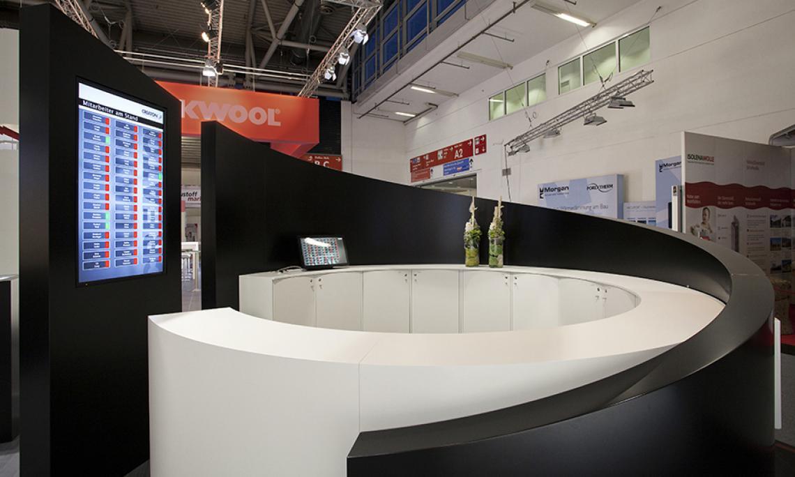 BAU München |  Personen-Management, Entwicklung und Programmierung eines Bestellsystems für 70 mobile Endgeräte, Medientechnik, interaktives System zur Leadgenerierung