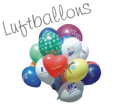 Luftballons Beliebt bei Kindern, aber auch Erwachsene haben ihren Spaß an diesem Werbe-Evergreen.